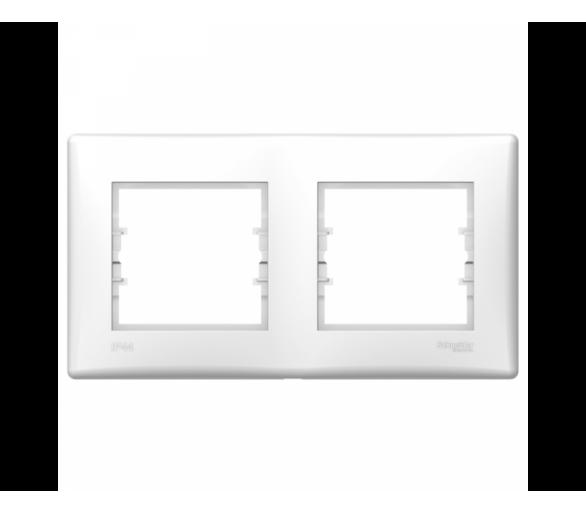 Ramka 2-krotna poziom IP44 biały SDN5810621