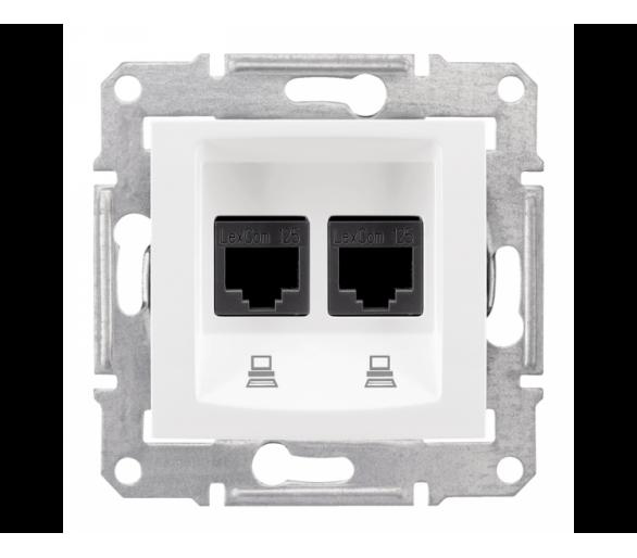 Gniazdo komputerowe 2x RJ45 kat.6 UTP biały SDN4800121