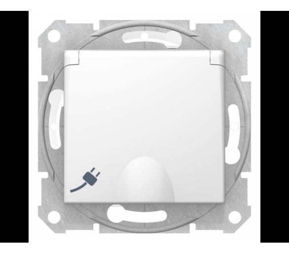 Gniazdo pojedyncze Schuko IP44 biały SDN3100321