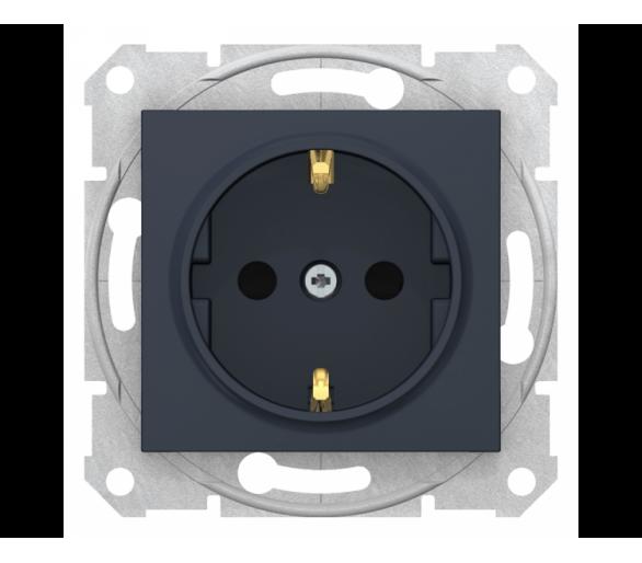 Gniazdo Schuko z przesłonami (z.bezgwint) grafit SDN3001770