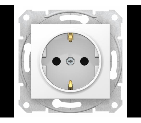 Gniazdo Schuko z przesłonami szybkozłączki biały SDN3001721