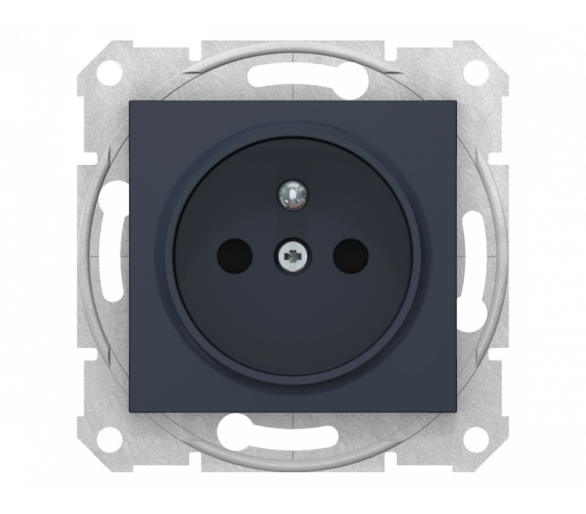 Gniazdo 2P+PE z przesłonami szybkozłączka grafit SDN2800770