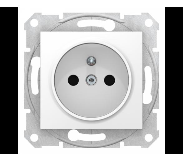 Gniazdo 2P+PE z przesłonami szybkozłączka biały SDN2800721