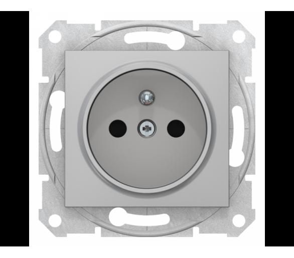 Gniazdo pojedyncze 2P+PE z przesłonami aluminium SDN2800160