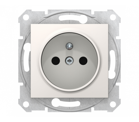Gniazdo pojedyncze 2P+PE z przesłonami krem SDN2800123