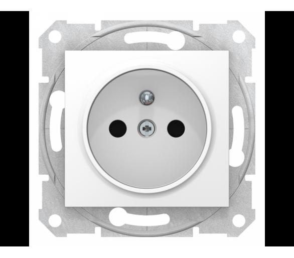 Gniazdo pojedyncze 2P+PE z przesłonami biały SDN2800121
