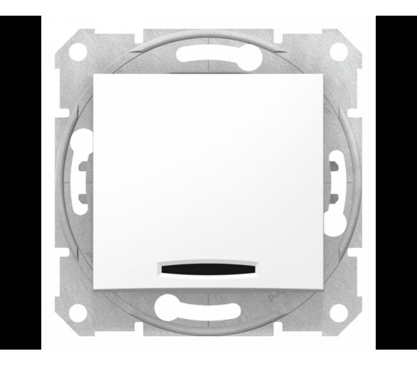 Łącznik 1-biegunowy z podświetleniem biały SDN1400121