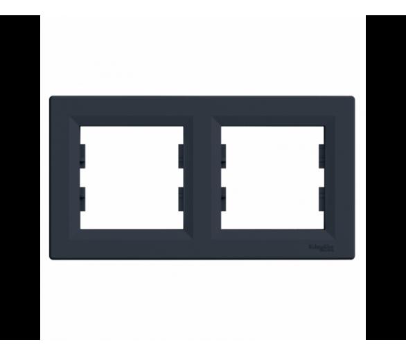 Ramka 2-krotna pozioma antracyt EPH5800271