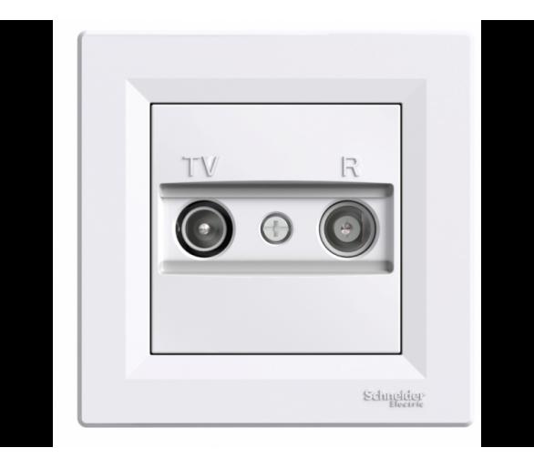Gniazdo RTV przelotowe (4dB) biały EPH3300221