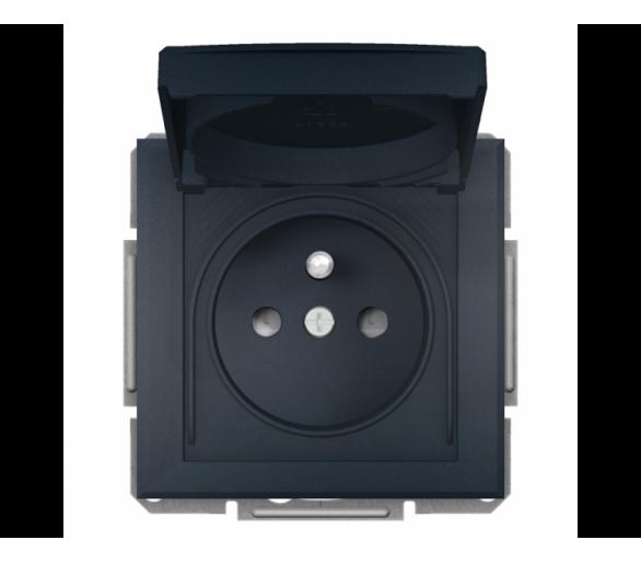 Gniazdo 2P+PE IP44 do systemu ramkowego, antracyt EPH2800671