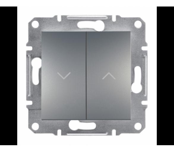 Przycisk żaluzjowy bez ramki (zaciski śrubowe) stal EPH1300362