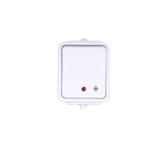 Łącznik krzyżowy z podświetleniem IP44 biały WNT700CS01