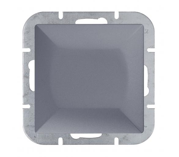 Wyłącznik klawiszowy instalacyjny p/t 10A, 250V, krzyżowy podświetlany WP-8P/S antracytowy