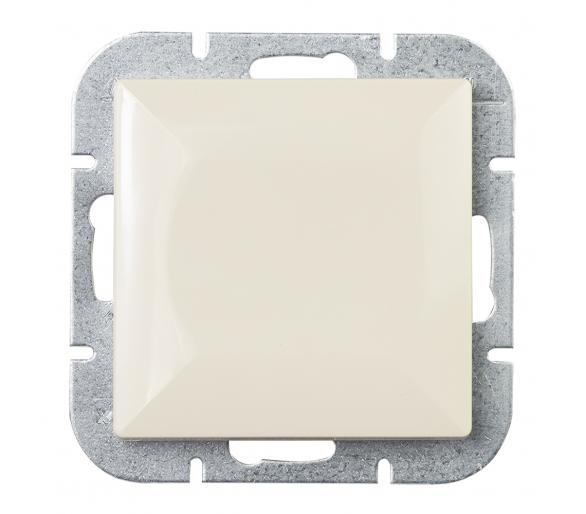 Wyłącznik klawiszowy instalacyjny p/t 10A, 250V, krzyżowy podświetlany WP-8P/S beżowy
