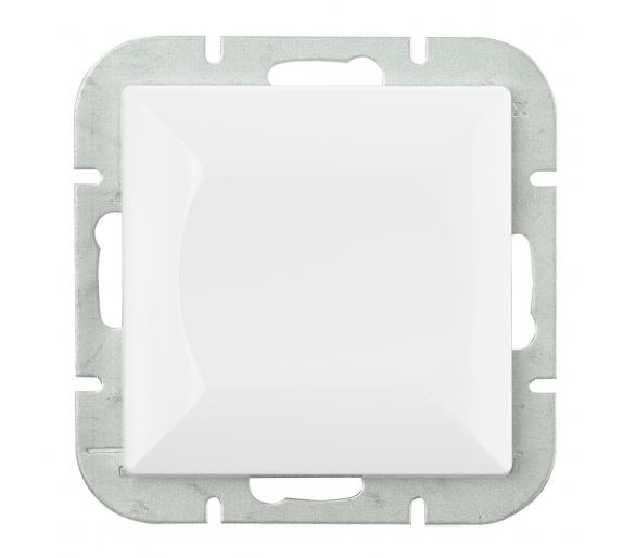 Wyłącznik klawiszowy instalacyjny p/t 10A, 250V, krzyżowy podświetlany WP-8P/S biały