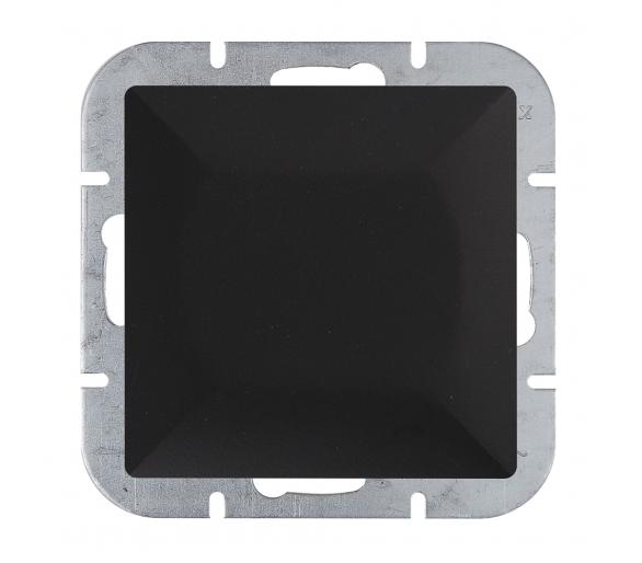 Wyłącznik klawiszowy instalacyjny p/t 10A, 250V, krzyżowy podświetlany WP-8P/S czarny mat
