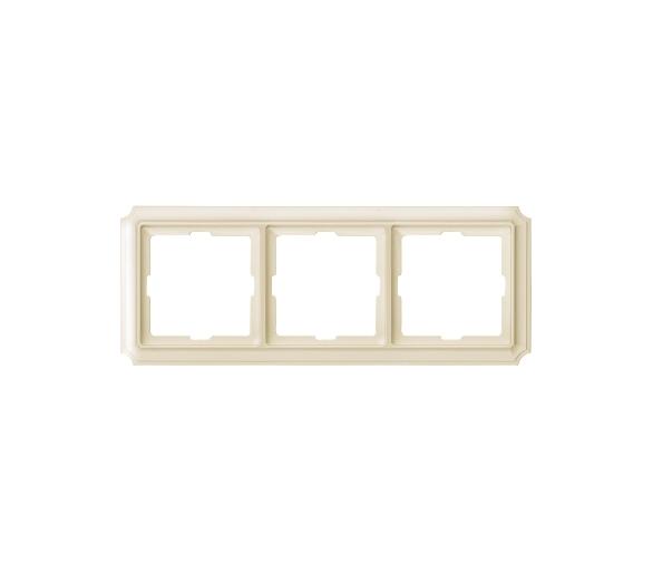 Ramka Antique potrójna kremowy MTN483344