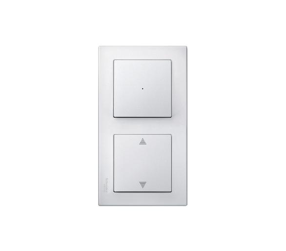 Ramka M-Smart podwójna biały polarny MTN478219