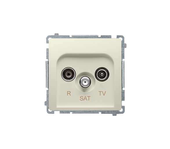 Gniazdo antenowe R-TV-SAT końcowe/zakończeniowe tłum.:1dB beżowy BMZAR-SAT1.3/1.01/12