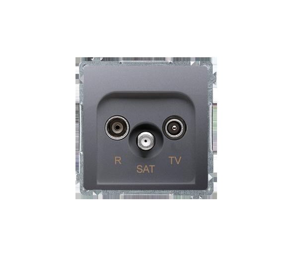 Gniazdo antenowe R-TV-SAT końcowe/zakończeniowe tłum.:1dB inox, metalizowany BMZAR-SAT1.3/1.01/21