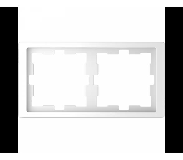 D-Life ramka 2kr biały lotus MTN4020-6535