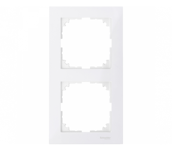 Ramka M-Pure podwójna biały polarny MTN4020-3619