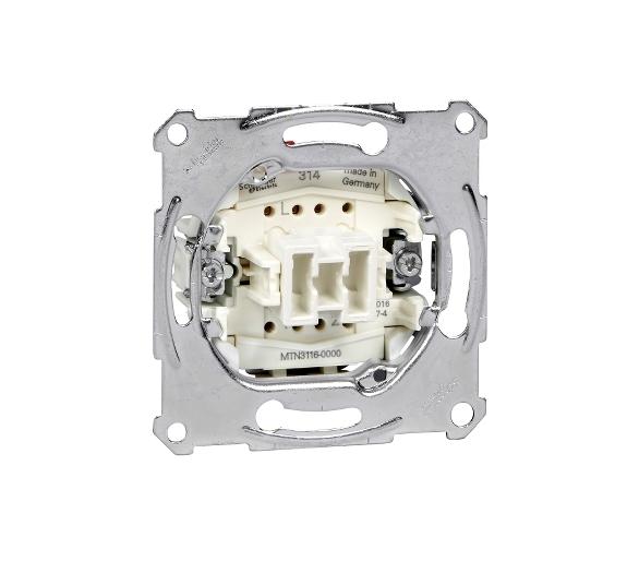 Mechanizm łącznika schodowego zacisk bezśrubowy 250VAC 10A MTN3116-0000