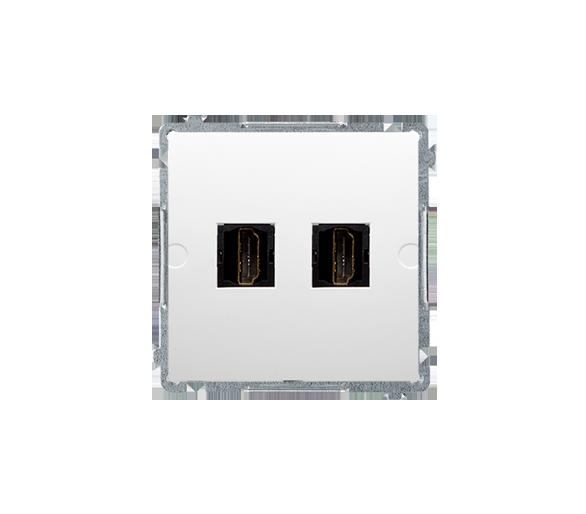 Gniazdo HDMI podwójne biały BMGHDMI2.01/11