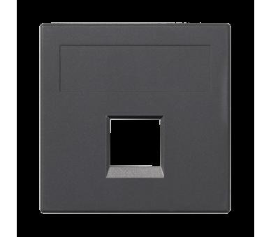 Plakietka teleinformatyczna SIMON 500 keystone pojedyncza bez osłon płaska uniwersalna 50×50mm szary grafit 50000185-038