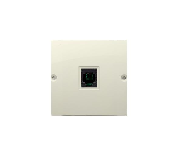 Gniazdo telefoniczne pojedyncze RJ11 (moduł) beżowy BMTU.01/12