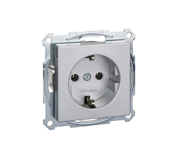 Gniazdo schuko, bez przesłon aluminium SYS. M MTN2301-0460