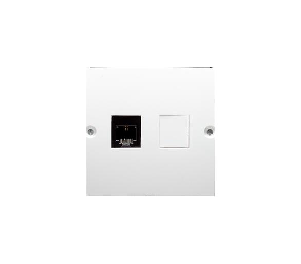 Gniazdo telefoniczne pojedyncze RJ11 (moduł) biały