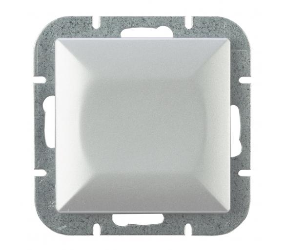Wyłącznik klawiszowy instalacyjny p/t 10A, 250V, krzyżowy podświetlany WP-8P/S srebrny