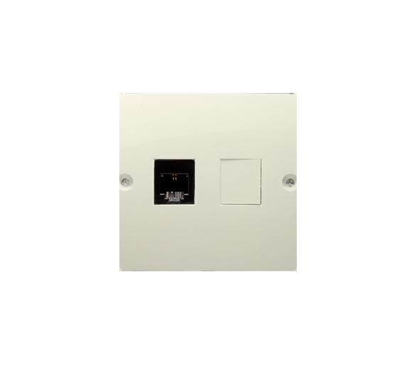 Gniazdo telefoniczne pojedyncze RJ11 (moduł) beżowy