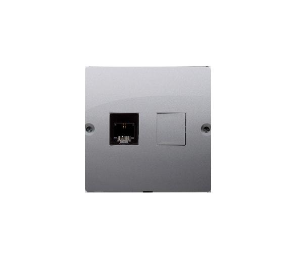 Gniazdo telefoniczne pojedyncze RJ11 (moduł) inox, metalizowany BMTF1.02/21