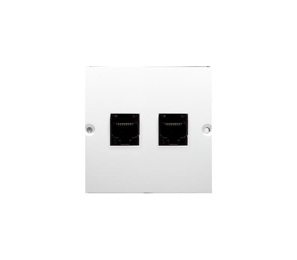 Gniazdo telefoniczne podwójne RJ11 (moduł) biały BMTF2.02/11