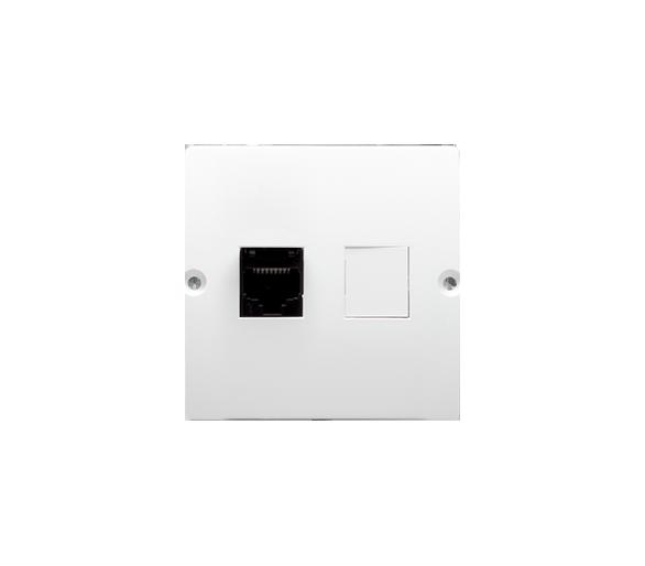 Gniazdo komputerowe pojedyncze RJ45 kategoria 5e (moduł) biały BMF51.02/11