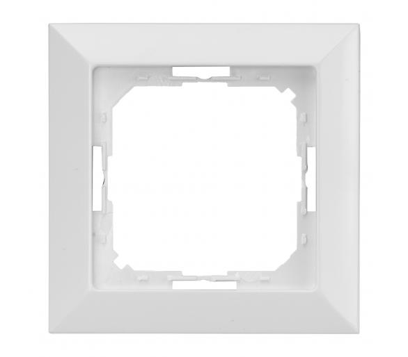 Ramka pojedyncza do serii Perła RA-1P biała
