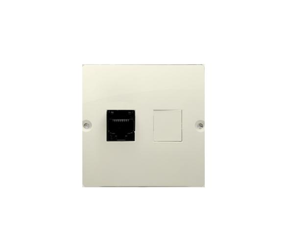 Gniazdo komputerowe pojedyncze RJ45 kategoria 5e (moduł) beżowy BMF51.02/12