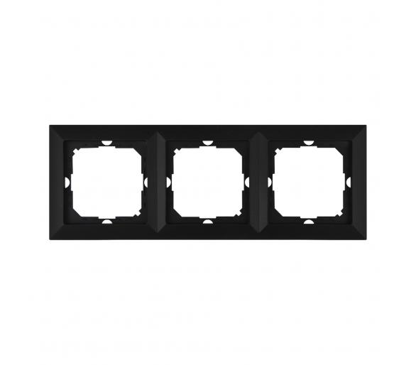 Ramka trzykrotna do serii Perła RA-3P czarny mat