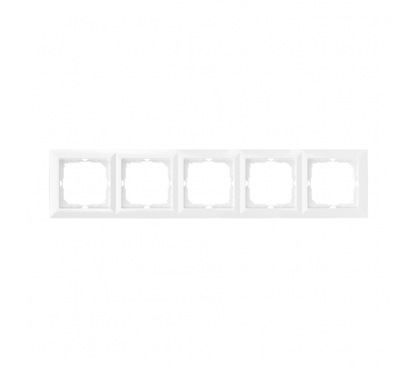 Ramka pięciokrotna do serii Perła RA-5P biała