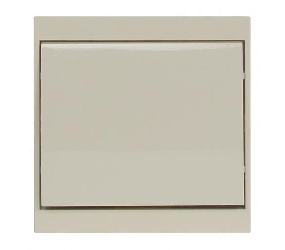 Wyłącznik klawiszowy instalacyjny p/t 10A, 250V, schodowy WP-5L beżowy