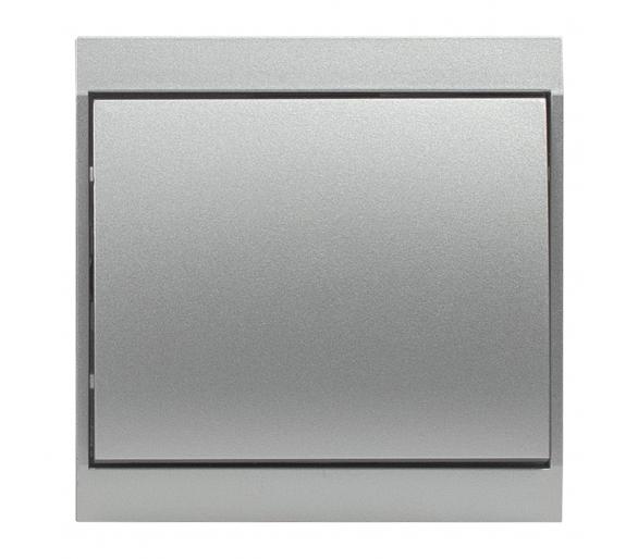 Wyłącznik klawiszowy zwierny światło, dzwonek p/t 10A, 250V podświetlany WP-6/7LS srebrny
