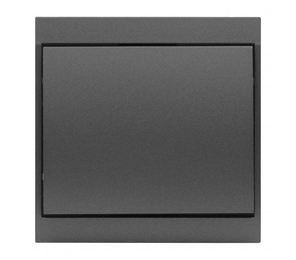 Wyłącznik klawiszowy zwierny światło, dzwonek p/t 10A, 250V podświetlany WP-6/7LS antracytowy