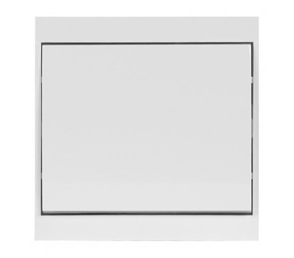 Wyłącznik klawiszowy instalacyjny p/t 10A, 250V, krzyżowy WP-8L biały