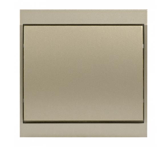 Wyłącznik klawiszowy instalacyjny p/t 10A, 250V, krzyżowy WP-8L satynowy