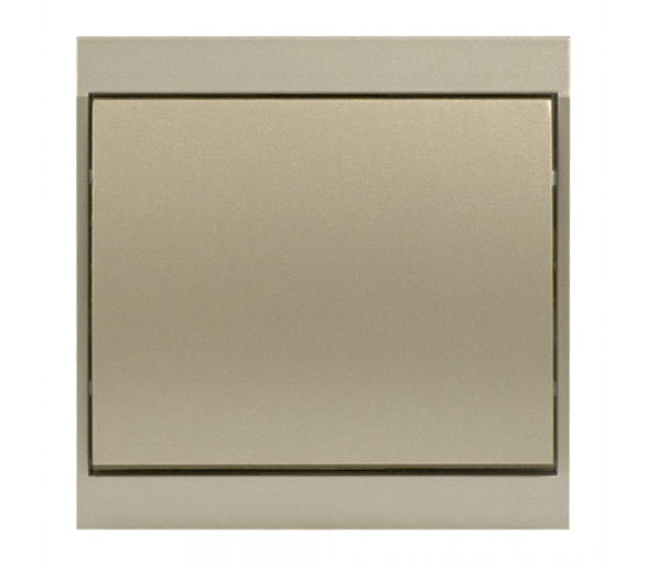 Wyłącznik klawiszowy krzyżowy p/t 10A, 250V podświetlany WP-8LS satynowy