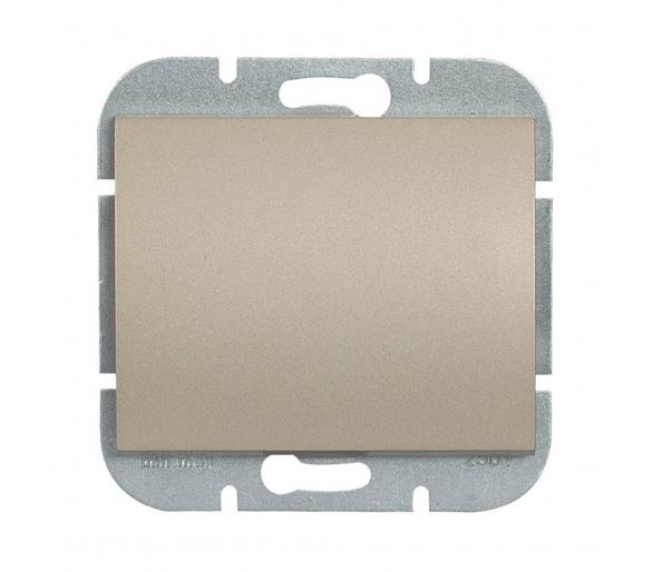 Wyłącznik klawiszowy instalacyjny p/t 10A, 250V, 1-biegunowy podświetlany WP-1N/S satynowy