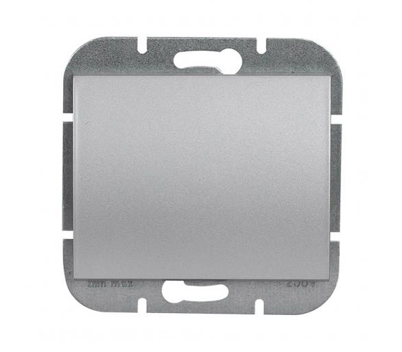 Wyłącznik klawiszowy instalacyjny p/t 10A, 250V, 1-biegunowy podświetlany WP-1N/S srebrny