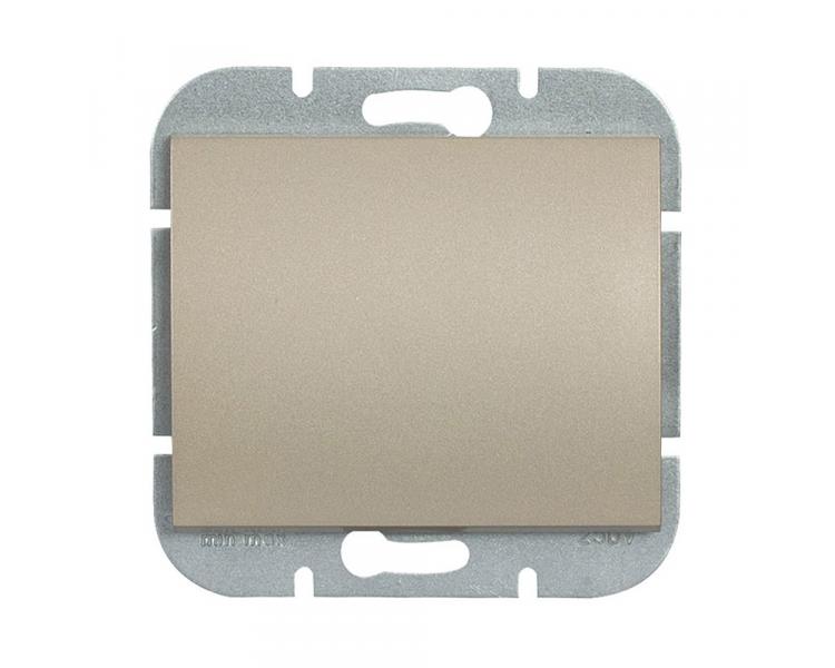 Wyłącznik klawiszowy instalacyjny p/t 10A, 250V, schodowy, podświetlany WP-5N/S satynowy